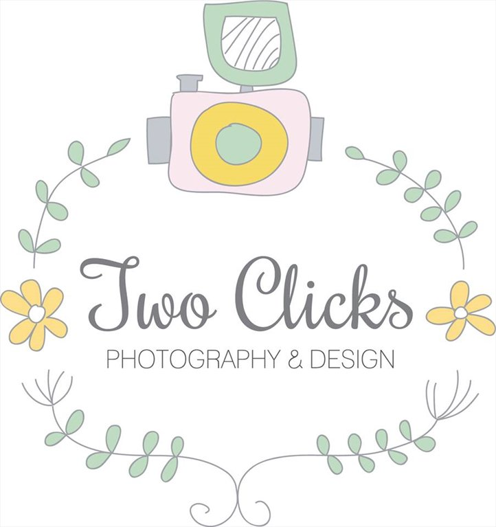 two clicks photography logo
