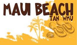Maui Beach Tan, WMU logo