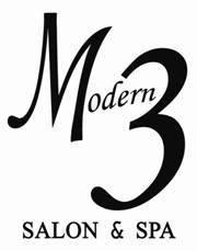 modern 3 salon logo